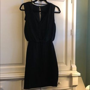 Bailey44 black dress with sheer overlay on top